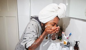 How often should the face be washed daily