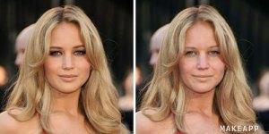 Jennifer lawerance without makeup