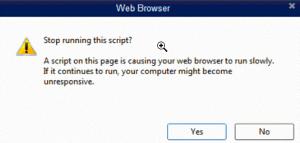 Quickbooks Script Error