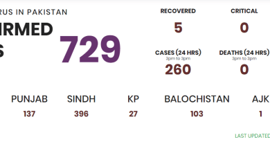 729 cases has been confirmed in Pakistan