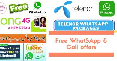 Coronvirus lockdown free Whatsapp and Call packages by ufone telenor zong