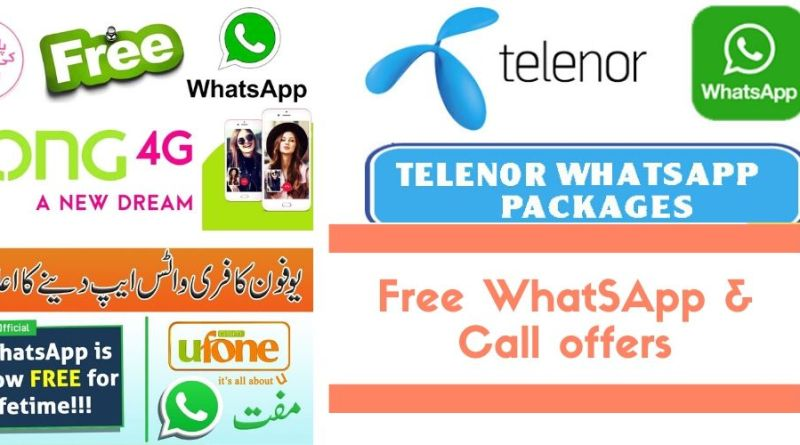 Coronvirus lockdown free Whatsapp and Call packages by ufone telenor zong