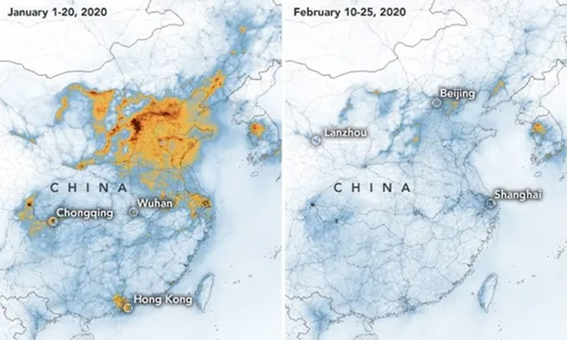 Pollution Comparrason Photo China