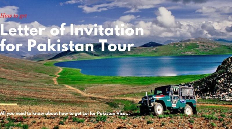 How to get letter of Invitation for Pakistan Visa