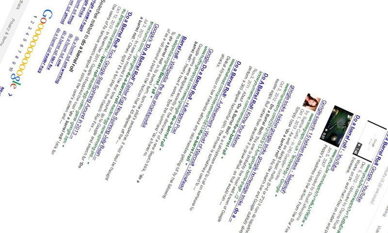 Do a barrel roll - Google tips & tricks