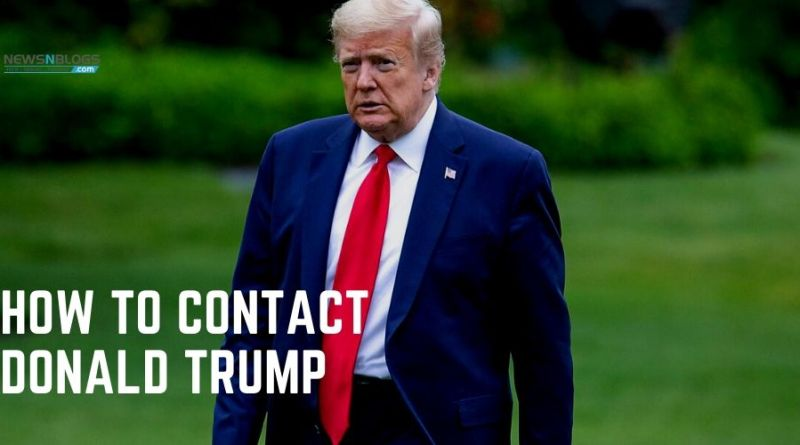 How to Contact Donald Trump