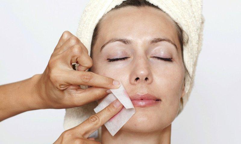 get rid of facial hair with Waxing