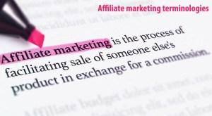 Affiliate marketing terminologies