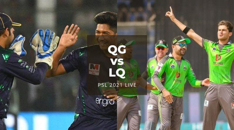 Watch PSL 2021 Live Stream Quetta Gladiators vs Lahore Qalandars, match no 23