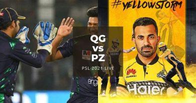 Watch PSL 2021 Live Stream Quetta Gladiators vs Peshawar Zalmi, match no 19 today