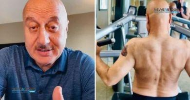 Anupam Kher's fitness workout video goes viral