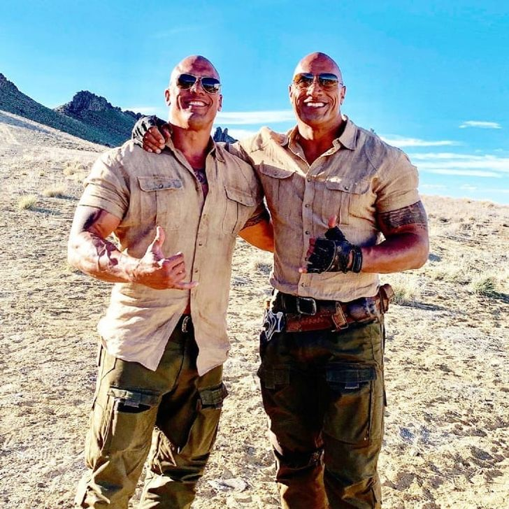 Dwayne 'The Rock' Johnson and Tanoai Reed