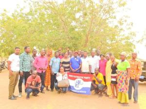 Hon. Alex Martey NPP Parliamentary candidate for Ningo-Prampram constituency together with some current and some past Constituency Executives