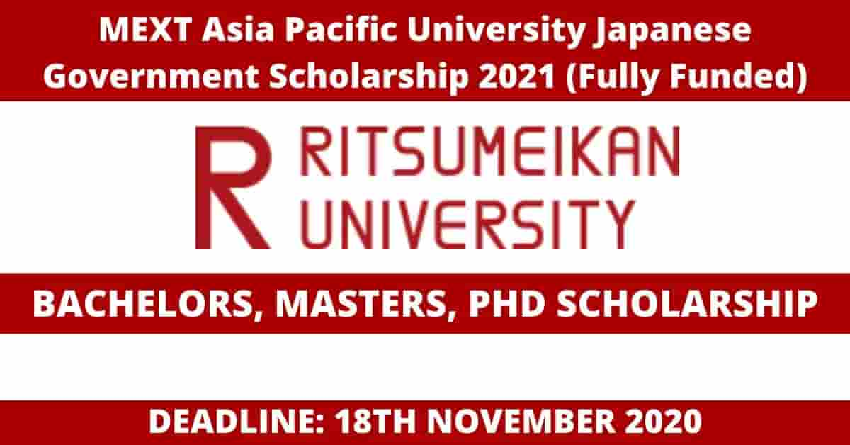 MEXT Asia Pacific University Japanese Government ...