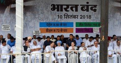 कांग्रेस के भारत बंद का मिला-जुला असर देखने को मिला