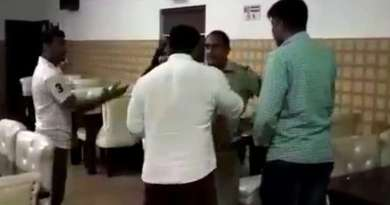 बीजेपी पार्षद ने दारोगा को पीटा