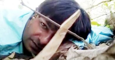 दंतेवाड़ा में नक्सली हमले के दौरान घायल हुए असिस्टेंट कैमरामैन मोर मुकुट शर्मा ने फायरिंग के दौरान एक वीडियो बनाया।
