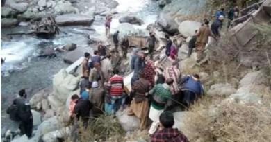 जम्मू-कश्मीर में बस हादसा