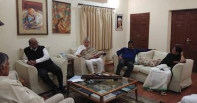 शरद पवार के घर मिले विपक्षी नेता