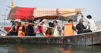 प्रियंका गाधी की गंगा यात्रा