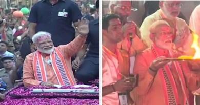 प्रधानमंत्री नरेंद्र मोदी ने गुरुवार को काशी में शक्ति प्रदर्शन किया।