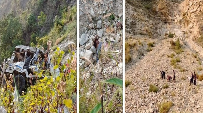 उत्तराखंड के चमोली के थराली में तलसारी चट्टान के पास दर्दनाक सड़क हादसा हुआ है।