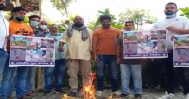 उत्तराखंड में भी हुआ कृषि बिल का विरोध, हल्द्वानी में यूथ कांग्रेस ने किया प्रदर्शन, केंद्र के खिलाफ की नारेबाजी