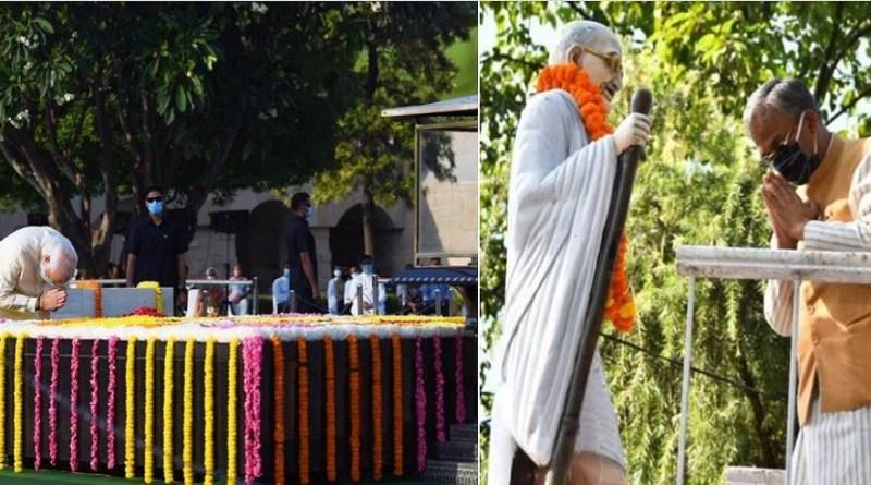 गांधी जयंति के मौके पर पूरा देश बाप को याद कर रहा है। प्रधानमंत्री नरेंद्र मोदी ने दिल्ली में राजघाट जाकर महात्मा गांधी को श्रद्धांजलि दी।