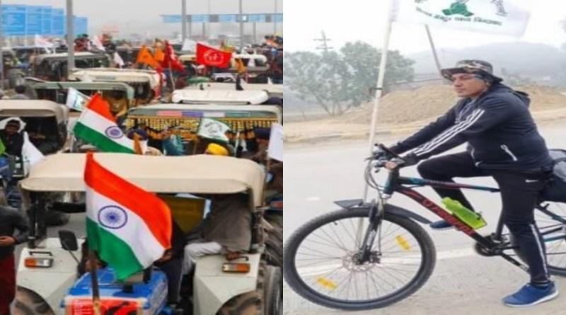 उत्तराखंड के उधम सिंह नगर का एक शख्स ट्रैक्टर परेड में शामिल होने साइकिल से रवाना हो गया है। दरअसल कांग्रेस कार्यकर्ता ओंकार सिंह ढिल्लो ने बताया कि मंगलवार को ट्रैक्टर परेड में शामिल होकर घर लौट आएंगे।