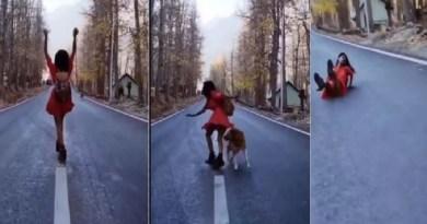 पहाड़ों का एक वीडियो इन दिनों सोशल मीडिया पर तेजी से वायरल हो रहा है। इस वीडियो में दिख रहा है कि वो वीडियो शूट करा रही है।