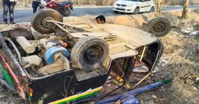 नैनीताल में दर्दनाक सड़क हादसा, डंपर की टक्कर से खाई में पलटा ऑटो, 6 लोग घायल