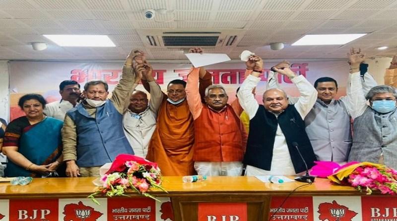 उत्तराखंड को अपना नया सीएम मिल गयाहै। खटीमा से बीजेपी विधायक पुष्कर सिंह धामी को मुख्यमंत्री बनाया गया है। वो प्रदेश के 11वें सीएम होंगे। बीजेपी विधायक मंडल दल की बैठक में नए मुख्यमंत्री के रूप में उनके नाम पर मुहर लगी।
