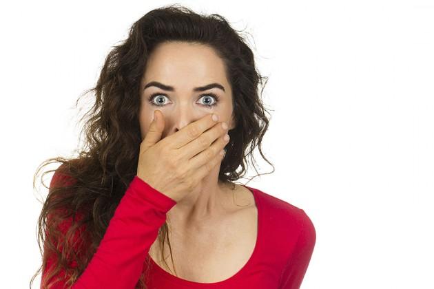 woman shocked