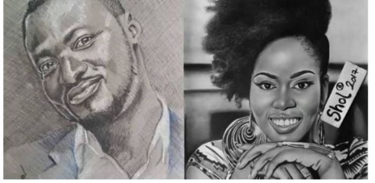portraits of Ghanaian celebs
