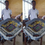 student builds barca stadium