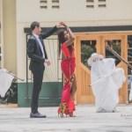 black woman and white man pre-wedding