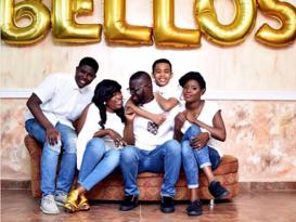 JJC Skillz,Funke Akindele And His Kids