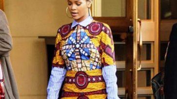 Rihanna Wears Ankara