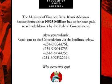 EFCC, Whistleblowers