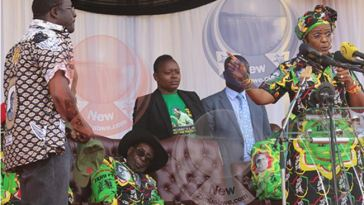 Zimbabwe President Mugabe Dozes Off At State Function While Wife Humiliates Presidential Spokesperson [Photo/Video]