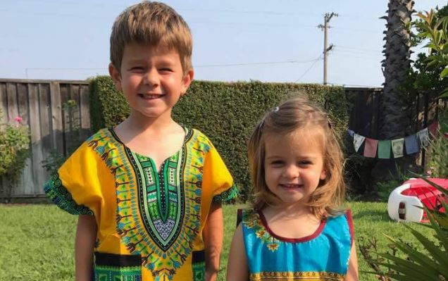 Amazing: American Children Rock Nigerian Outfits