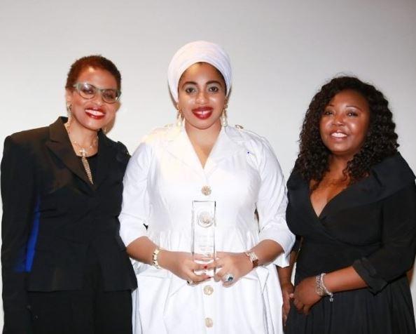 """Nigerian King Ex-Wife, Olori Wuraola Wins 'Humanitarian Of The Year"""" Award At The UN"""