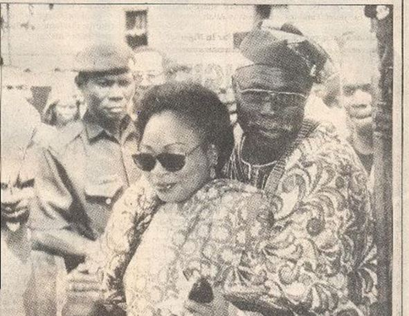Throwback Photo Ex-Nigerian President Obasanjo And His Late Wife, Stella