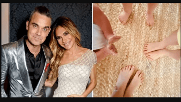 Robbie Williams and Ayda Field Williams