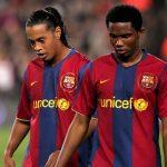 Samuel Eto'o and Ronaldinho
