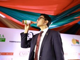 Madagascar president Andry Rajoelina unveils a local herbal for coronavirus
