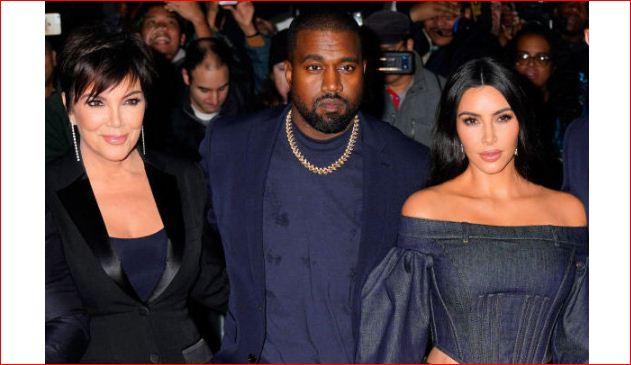 Kanye West, Kim Kardashian and Kris Jenner
