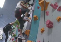 Climber Jorgeson, Business Leaders Join Rock Wall Celebration