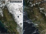 Satellite View Shows Dramatic Change in Snowpack