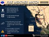 Early Warnings of Fire Danger, High Winds, Power Shutoffs Starting Late Sunday